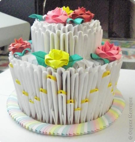 Оригами модульное: Приготовила тортик! фото 2