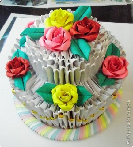 Оригами модульное: Приготовила тортик! фото 1