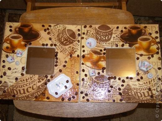 Декупаж: зеркальные рамочки 2