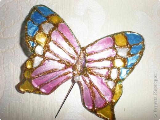 Бабочка из пластиковой бутылки фото 1