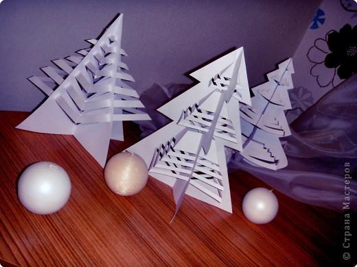 Эти елочки получаются в результате склеивания одинаковых деталей. фото 1