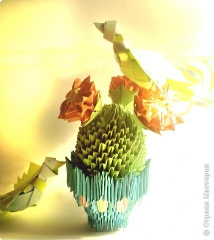 Кактус с объемными птичками фото 1