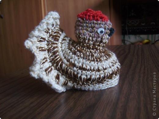 """Вязание крючком: """"Курочка с яйцом"""" фото 1"""