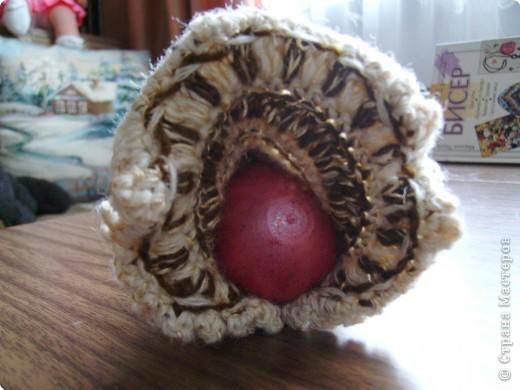 """Вязание крючком: """"Курочка с яйцом"""" фото 2"""