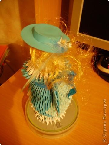 Оригами модульное: Дамы в модных шляпках фото 4