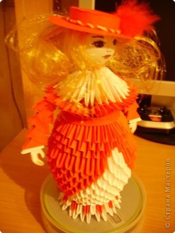 Оригами модульное: Дамы в модных шляпках фото 3