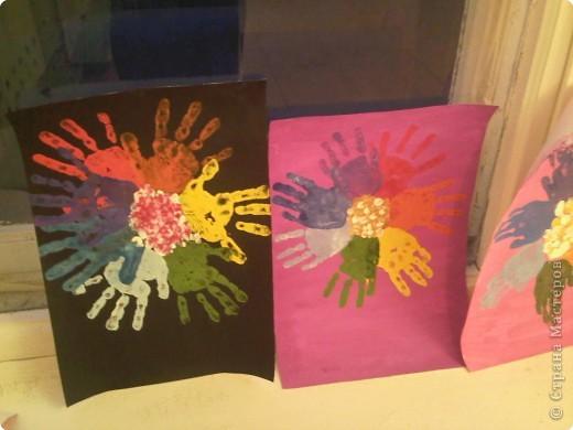 Отпечатки ладошек: Ладошечный цветик-семицветик фото 1