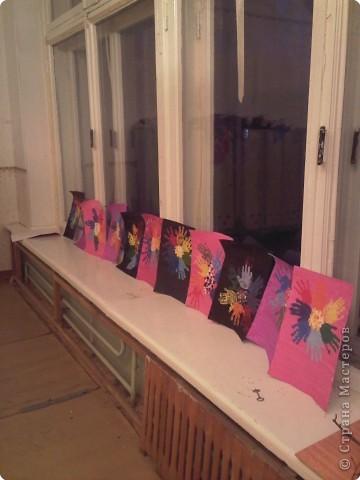 Отпечатки ладошек: Ладошечный цветик-семицветик фото 2
