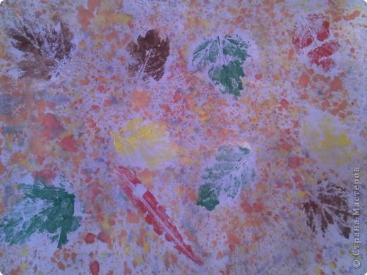 Отпечатки листьев: Наши осенние картины фото 1