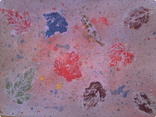 Отпечатки листьев: Наши осенние картины фото 2