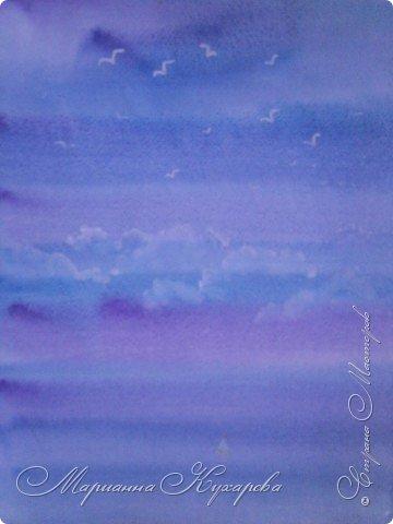 Рисование и живопись: Небо, чайки, море... фото 1
