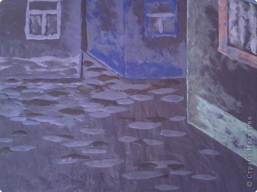 Лепка: Ночная улочка - рисунок пластилином