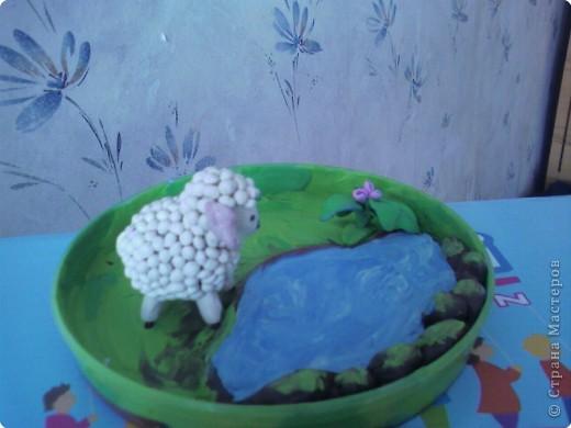 Лепка: Овечка из пластилина фото 3