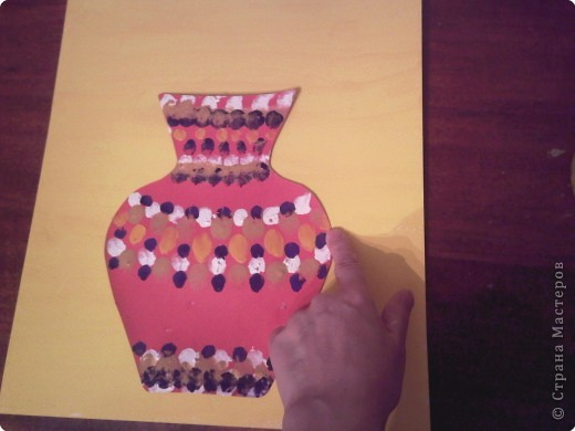 Вот такой букет в вазе предлагаю сделать вместе с детишками. фото 18