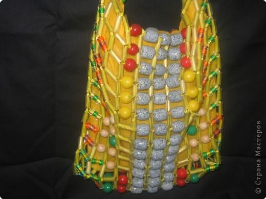Плетение: Пляжная сумочка фото 2
