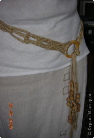 Плетеный пояс получился длиной 115 см. фото 2