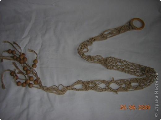 Плетеный пояс получился длиной 115 см. фото 1