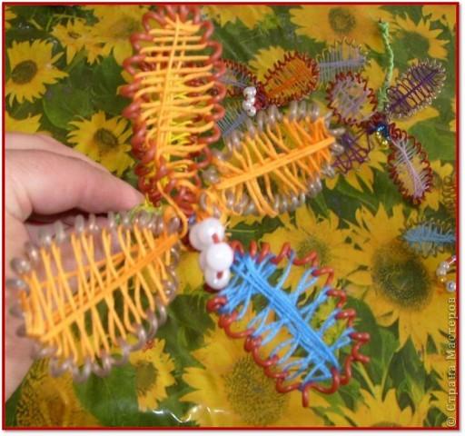 Материалы для урока: Проволока, стержень, бусинки, нитки мулине фото 19