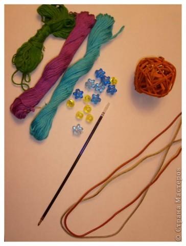 Материалы для урока: Проволока, стержень, бусинки, нитки мулине фото 1