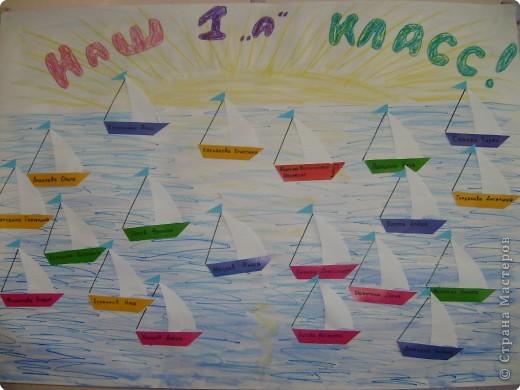 Каждый учитель хочет провести первый урок-знакомство в новом классе необычно, так, чтобы он запомнился. В нашей школе уже использовались идеи с клумбой и цветами, солнышком и лучиками, кленовыми листьями. Мне захотелось воплотить идею путешествия по знаниям. Вот что получилось.