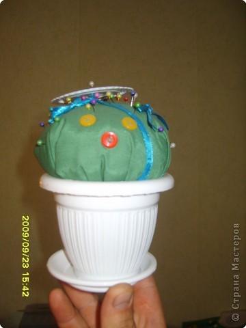 Шитьё: Игольница-кактус