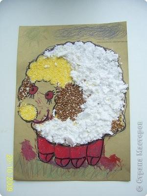 Барашек-альбинос:) Альбиносом он стал благодаря Художнику, который раскрасил и глаза и копытца красным маркером:)ну, я копытца подкорректировала немного....