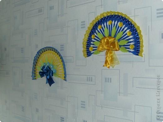 Декоративный веер 2+способ крепления к стене фото 3