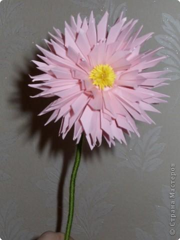Для такого цветка нам понадобится: 6 больших розовых звезд, 4 маленькие розовые звезды, и 2 маленькие зеленые. фото 29