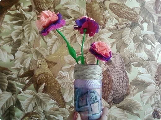 Вазочка,сделанная своими руками буквально из ничего. фото 5