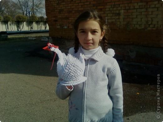 Этого лебедя сделала Нечаева Алина,8 лет. фото 6