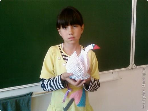 Этого лебедя сделала Нечаева Алина,8 лет. фото 7
