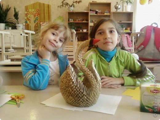 Этого лебедя сделала Нечаева Алина,8 лет. фото 8