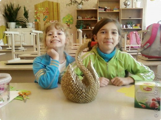 Этого лебедя сделала Нечаева Алина,8 лет. фото 9