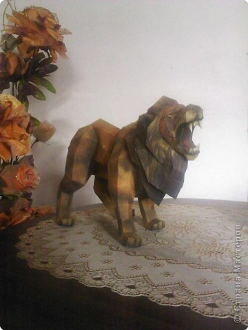Бумагопластика: не будите во льве зверя!