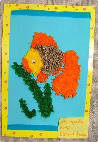 Торцевание: Золотая рыбка .  фото 1