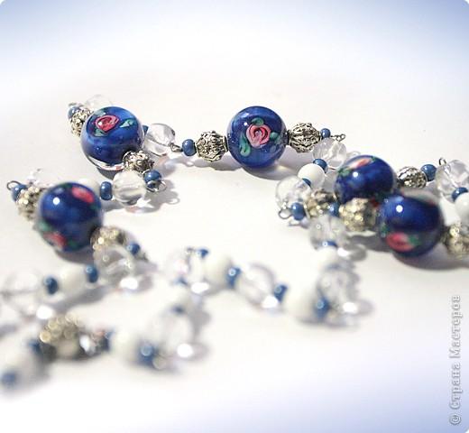 """Колье """"под синюю блузку"""" :-) фото 2"""