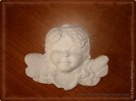 Скульптура: Ангел из гипса