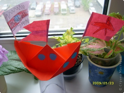 Оригами. Корабли фото 2
