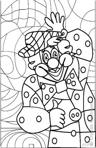 """Раскраска """"Клоун"""" Задание для 1 класса фото 2"""