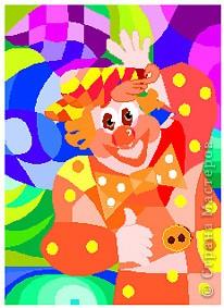 """Раскраска """"Клоун"""" Задание для 1 класса фото 1"""