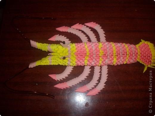 Оригами модульное: Креветка фото 2