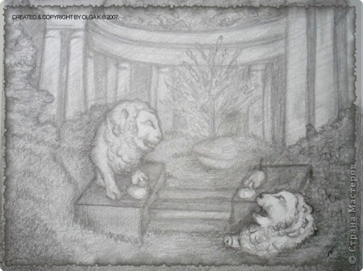 """Рисование и живопись: """"Поверженный"""", карандаш"""