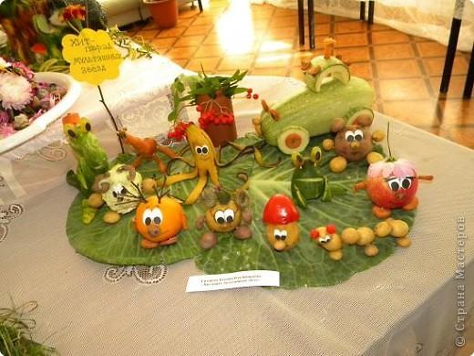 25 августа 2009года в библиотеке проводилась традиционная выставка плодов и цветов. Меня привлекла своей простотой и очаровательностью работа Сидоровой Т.В. фото 1