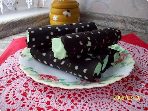 Творожные трубочки в шоколаде фото 1