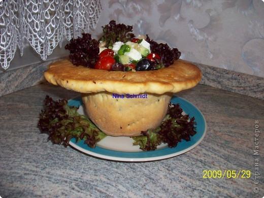 Шляпа с салатом фото 1