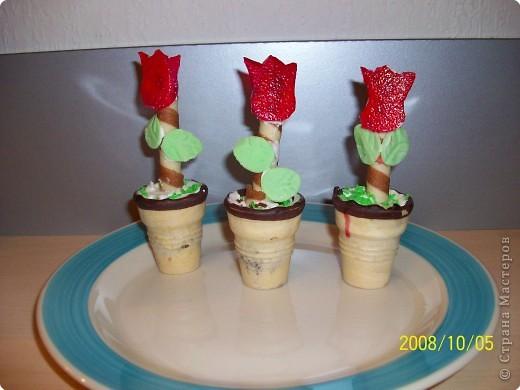 Это кексы. Один поставила, второй на него перевернула и украсила. Жёлуди и стрекозки из марципана, крылышки из  цветной пищевой бумаги.  фото 3