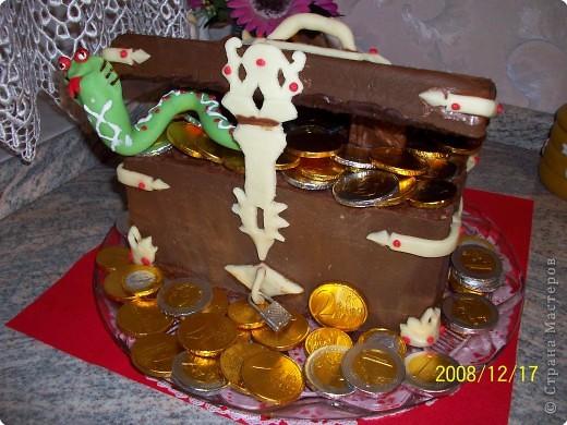 "Торт ""Сундук с драгоценностями"". фото 1"