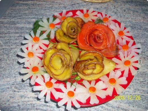 Карвинг: Картофельные розы. фото 1