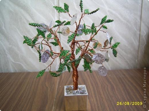 Бисероплетение: Монетное дерево