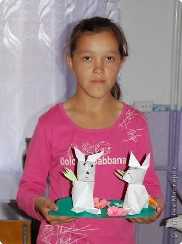 Оригами: Зайчики фото 2